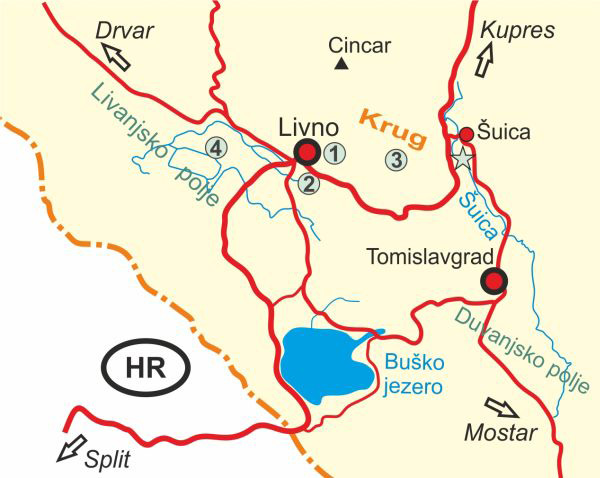 Map of Livno and Surroundings