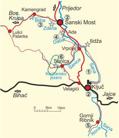 Map of Sana River - Middle Course