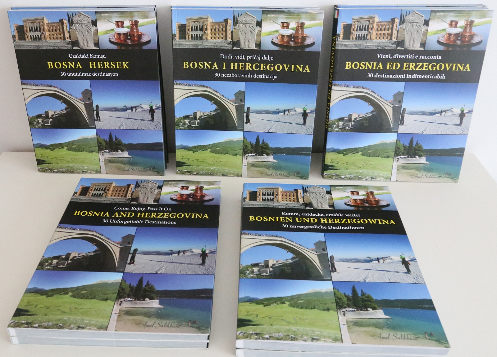 All five Editions of the Book BOSNIA AND HERZEGOVINA
